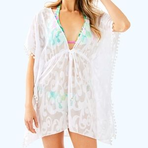 Lilly Pulitzer gardenia cover up resort white